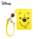 【日本正版】小熊維尼 大臉造型 彈力票卡夾 票夾 證件套 悠遊卡夾 維尼 Winnie 迪士尼 Disney - 801986