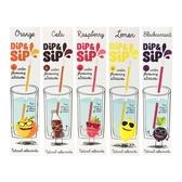 Dip&Sip 氣pupu親水吸管(6gx6入) 橘子/可樂/覆盆子/檸檬/黑醋栗【小三美日】
