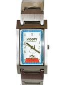 【卡漫城】 史奴比 手錶 方形 藍框 ㊣版 史努比 不鏽鋼 日期功能 男錶 女錶 Snoopy 六折出清 1440元
