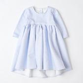 女童小洋裝女童連身裙英國 製淺藍娃娃裝WAHT MOTHER MADE