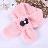 秋冬季韓版兒童圍巾男童女童寶寶圍脖卡通毛絨嬰兒保暖純色兔子 QG9816『優童屋』