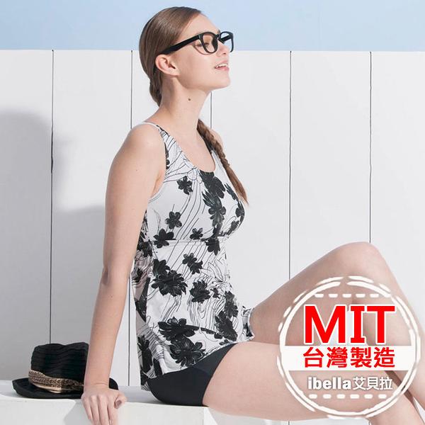 連身泳裝MIT台灣製造印花連身褲美國杜邦萊卡【36-66-818116-18】ibella 艾貝拉