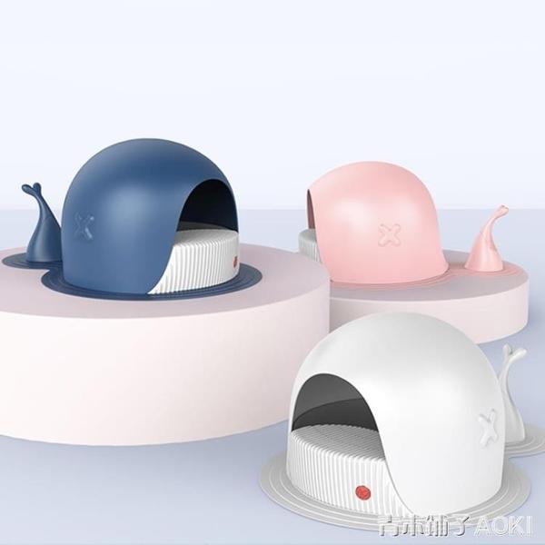 好命天生 全半封閉式大號鯨魚貓砂盆 防外濺隔臭貓廁所貓咪用品ATF 青木鋪子