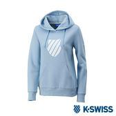 K-Swiss Shield Logo Hoodie 刷毛連帽上衣-女-粉藍