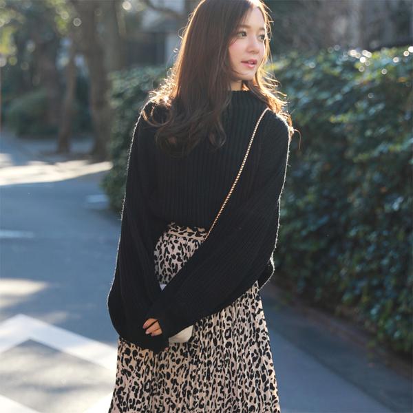 東京著衣-SILKY-多色小高領澎袖針織縮口上衣(7190006)