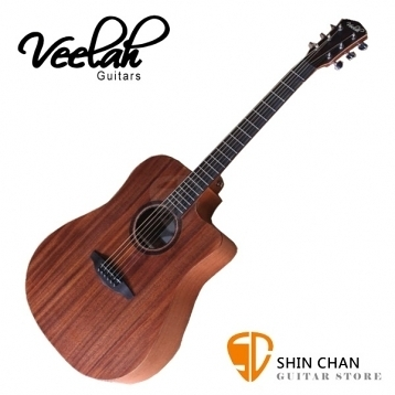 Veelah吉他 V1-DMC 全桃花心木D桶身/面單板/切角-附贈Veelah木吉他袋/V1專用(全配件)/台灣公司貨