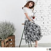 OB嚴選《DA3382-》假兩件蕾絲短袖上衣x色彩雪紡長洋裝.2色--適 S~XL