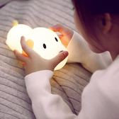 硅膠減壓觸摸可調光嬰兒喂奶拍拍臥室床頭創意夢幻插電迷你小夜燈【618又一發好康八九折】