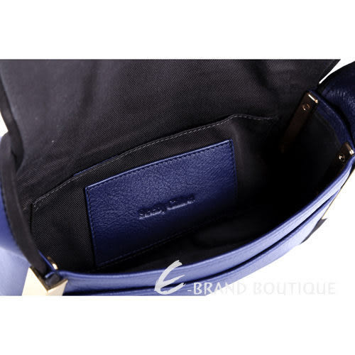 [ NG大放送 ]SEE BY CHLOE Aster 黑滾邊設計藍色肩背包 1490073-23