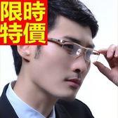 眼鏡架-半框式超輕木腿時尚男鏡框3色64ah36[巴黎精品]