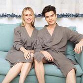 浴袍 夏季薄款純棉毛巾料美容院浴袍浴衣情侶酒店睡袍睡衣男士少女夏天 俏女孩