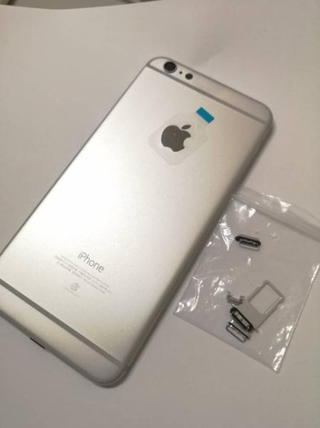 【原廠背蓋】Apple iphone 6P PLUS 原廠背蓋 背殼手機殼贈手工具(含側按鍵)-銀色原廠規格