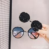 街拍墨鏡韓版潮新款復古圓多邊形太陽鏡女小框眼睛 居家物语
