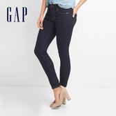 Gap女裝 百搭深色緊身窄管牛仔褲 240894-藍紫牛仔布