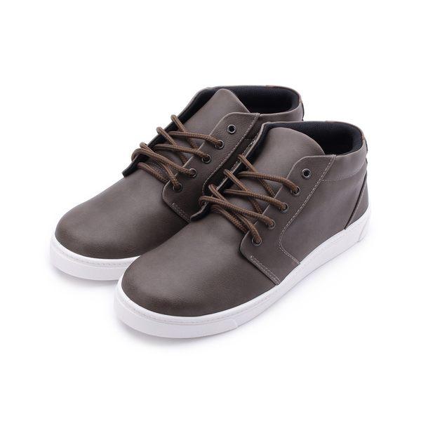 素色半高筒休閒鞋