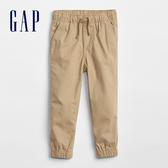 Gap 嬰兒 基本款純棉鬆緊帆布運動褲 844696-工裝卡其