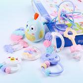 新生嬰兒玩具手搖鈴牙膠可咬水煮寶寶男女孩0-3-6-12個月益智1歲