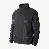 C-NIKE NBA LAKERS 黑色湖人 立領 風衣外套 運動外套 男生 CJ7148-010