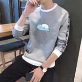 圓領韓版學生衛衣潮流帥氣套頭打底衫