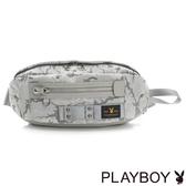 PLAYBOY- 單肩背包 性格迷彩系列-灰色