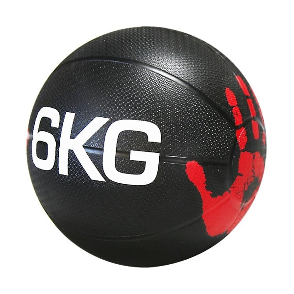 健身藥球 力惠實心橡膠藥球Medicine Ball重力球健身球腰腹部訓練敏捷運動6KG