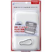 NEW2DSLL/3DSLL用日本Cyber 輕量化EVA 主機硬殼包 可裝主機殼可收納卡帶 白X薰衣草色【玩樂小熊】