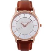 RELAX TIME Classic 經典系列手錶-銀x咖啡42mm RT-88-1M