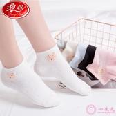 襪子女 淺口短筒襪 純棉春夏季薄款運動襪 韓版學院風棉襪女潮襪