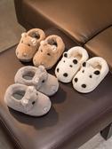 兒童拖鞋秋冬男童1-2歲室內毛包跟3可愛家居冬天嬰兒女寶寶棉拖鞋-ifashion