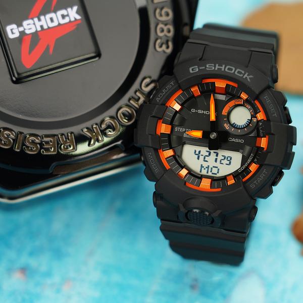 CASIO 卡西歐 G-SHOCK 藍牙計步運動手錶 GBA-800SF-1A