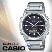 CASIO卡西歐 手錶專賣店 國隆 AMW-S820D-1A 指針男錶 不鏽鋼錶帶 黑 太陽能 防水