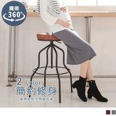 《MA0211》魔術360~後開衩設計棉質孕婦中長裙 OB嚴選