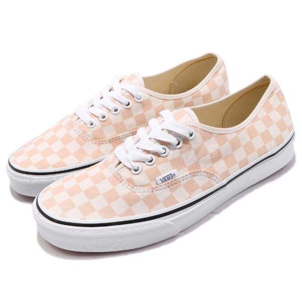 Vans Authentic 基本款 橘 粉橘 經典格紋 復古 低筒 滑板鞋 休閒鞋 男鞋 女鞋【PUMP306】 181010103