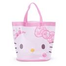 小禮堂 Hello Kitty 透明海灘袋 水桶提袋 游泳袋 泳具袋 防水袋 (粉 2021炎夏企劃) 4550337-47392