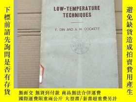 二手書博民逛書店low-temperature罕見techniques(P1356)Y173412