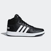 Adidas Hoops 2.0 Mid Neo [BB7207] 男鞋 運動 休閒 籃球 基本 穿搭 愛迪達 黑白