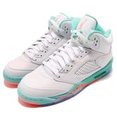 Nike Air Jordan 5 V Retro GS Light Aqua 白 綠 橘 喬丹5代 女鞋 大童鞋【PUMP306】 440892-100