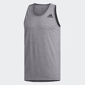 Adidas 男款 灰色 專業訓練 運動 背心 DU1476 【KAORACER】