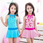 兒童泳衣女童韓版連身裙式泳衣
