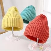 韓版兒童針織帽子春秋款糖果色毛線帽【聚可愛】