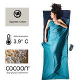奧地利 COCOON|埃及棉旅用床單/睡袋內袋-雙配色 (深藍/湖水藍)