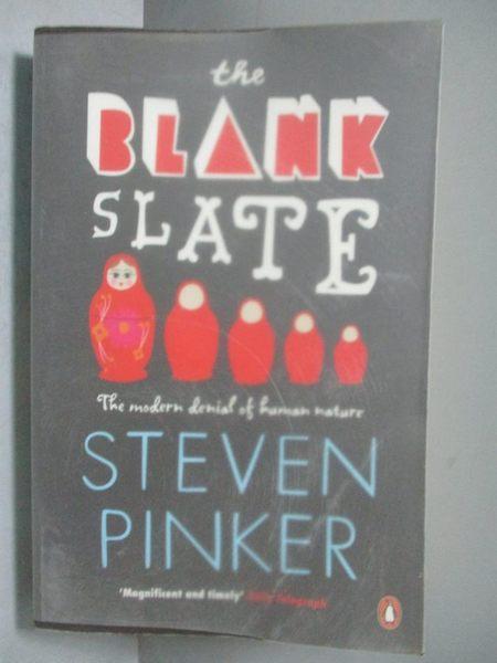 【書寶二手書T6/原文書_OPE】The Blank Slate_PENGUIN BOOKS LTD.