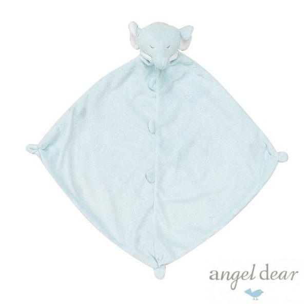 美國Angel Dear 動物嬰兒安撫巾 藍色大象