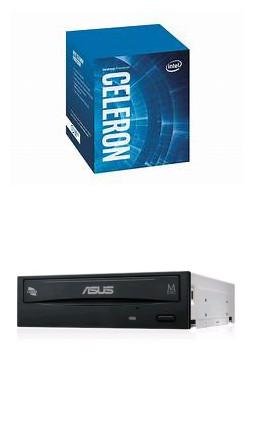 Intel Celeron G4930【2核/2緒】+華碩 24XSATA(黑)燒錄器