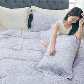 清新花漾(灰)-天絲兩用被床罩六件組 雙人尺寸【百分百奧地利天絲】
