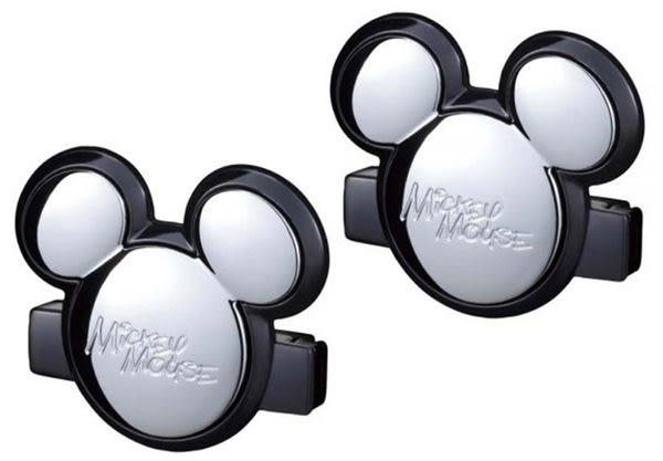 NAPOLEX 迪士尼 米奇安全帶固定夾 (鍍鉻銀一組2入)
