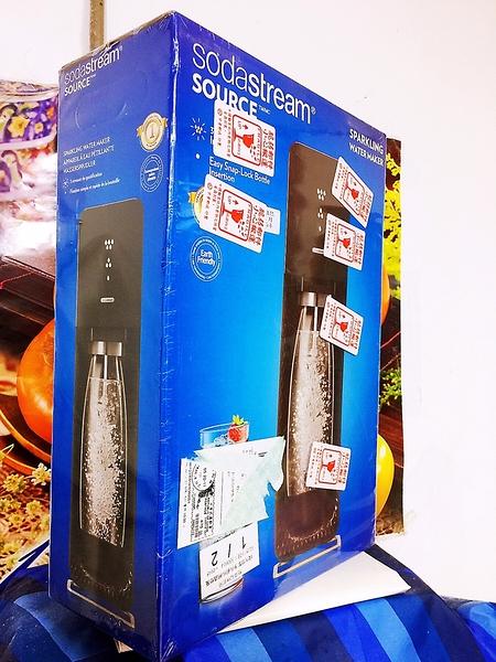 英國 SodaStream SOURCE氣泡水機 -黑色 全新自動扣瓶裝置,三階段氣泡含量指示