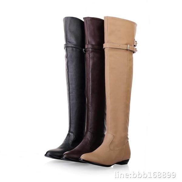 膝上靴 2016春秋冬季新款韓版平底高筒靴過膝長靴馬丁靴潮女單靴女鞋女靴 城市科技