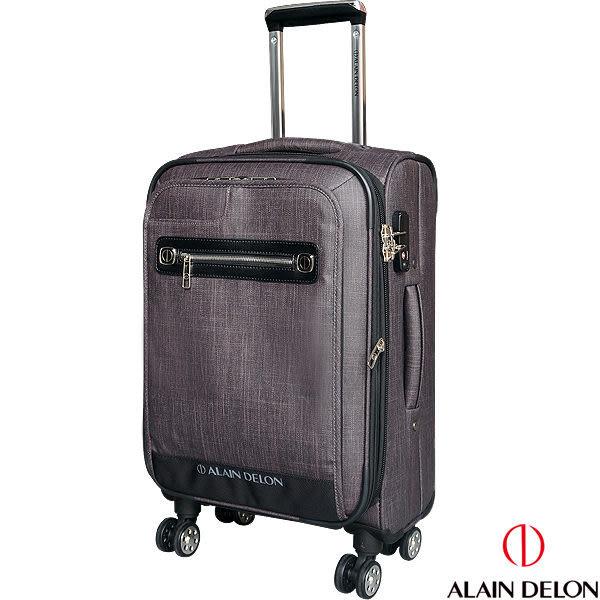 法國 ALAIN DELON 亞蘭德倫 牛仔紋系列 行李箱/旅行箱-20吋(咖)
