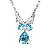 項鍊925 純銀水晶墜飾閃耀大方生日情人節 女飾品銀飾4 色73aj575  巴黎